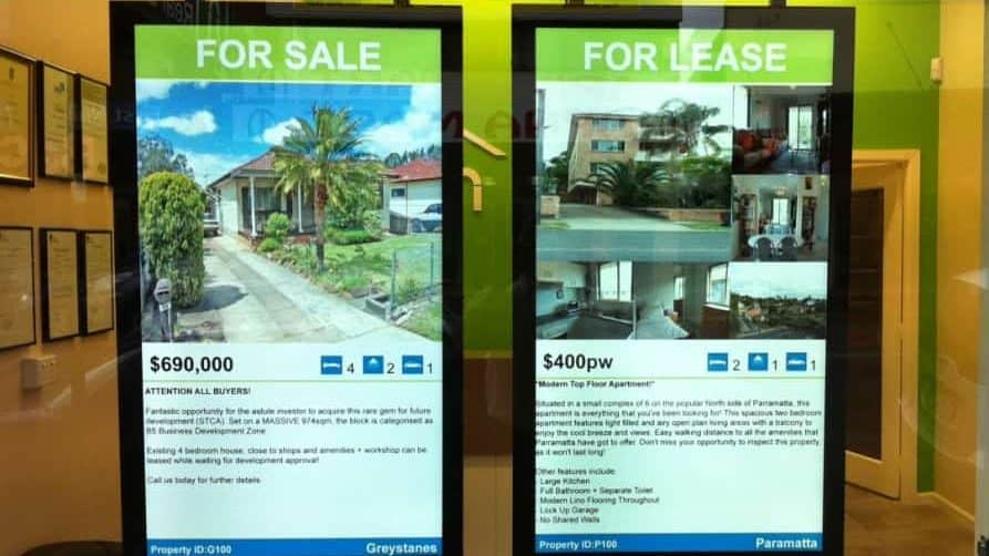 Digital Signage – Bach Real Estate