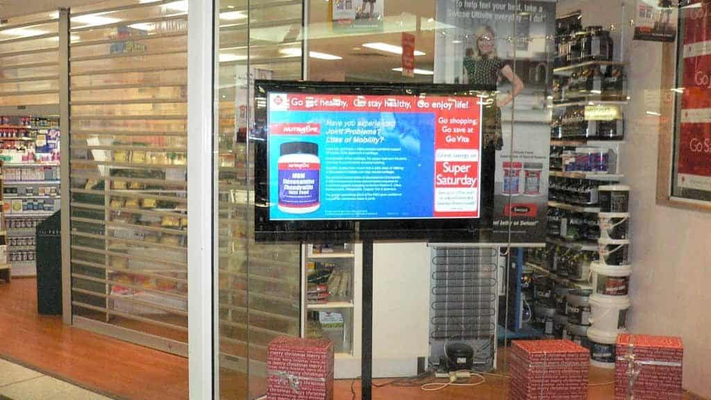 Advertise Me - Digital Signage Go Vita Narellan Shop