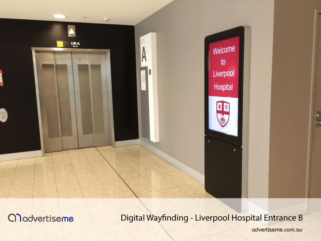 Digital Wayfinding Liverpool Hospital Entrance B