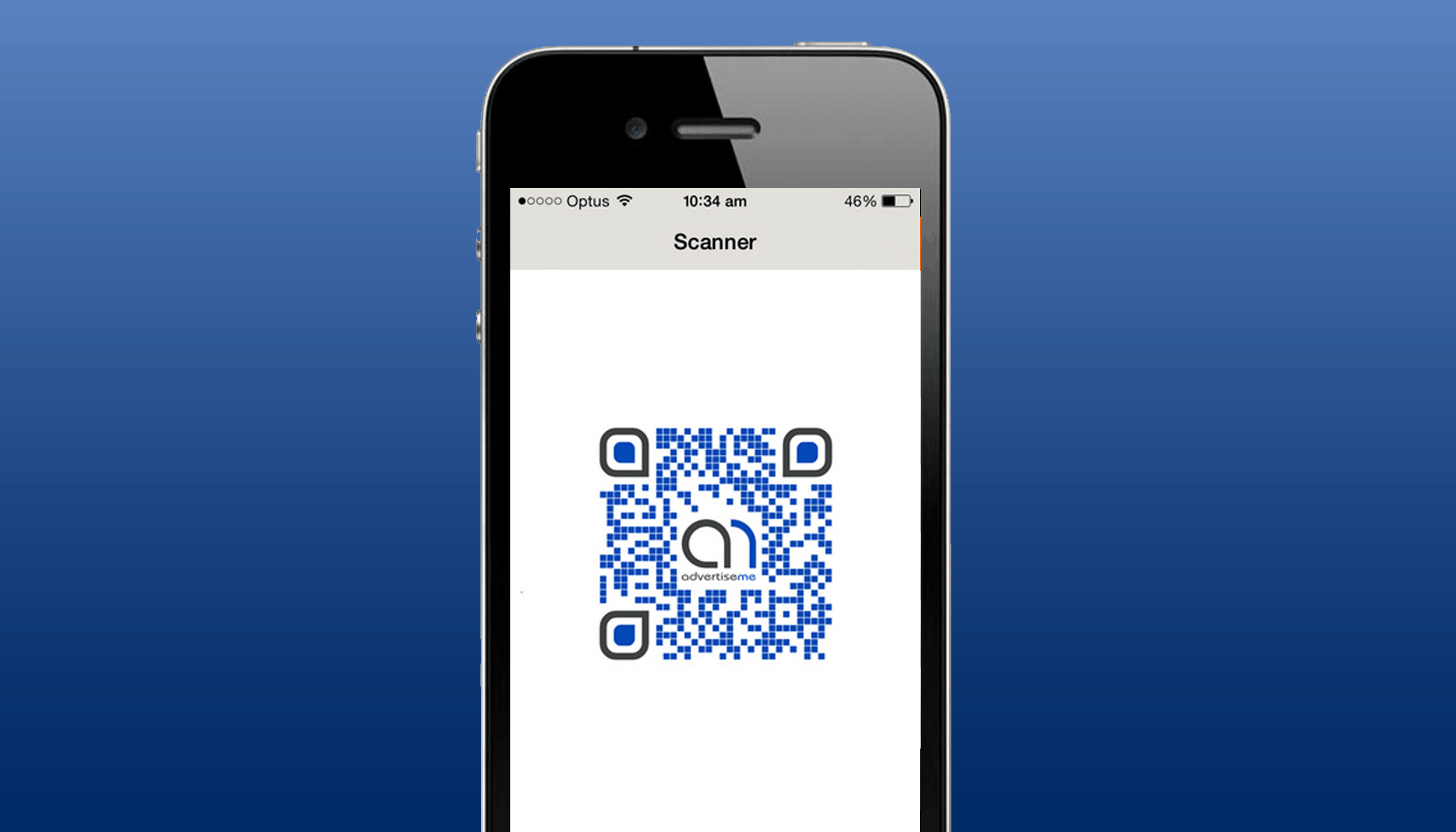 Advertise Me Mobile Application Point and Scan
