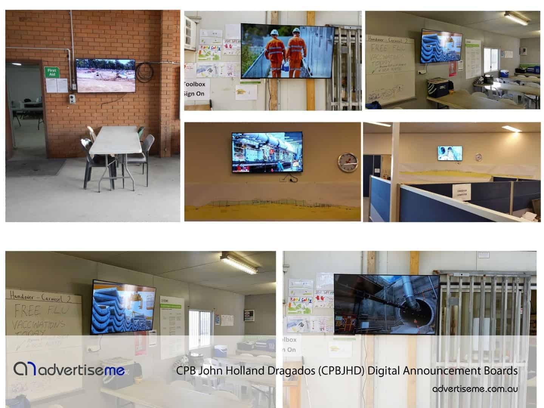 Thiess Digital Announcement Board