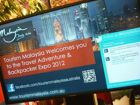 Digital Signage: Travel Expo 2012 - Tourism Malaysia