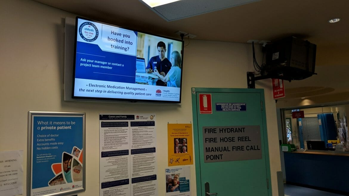 Advertise Me Digital Signage Bankstown Hospital Welcome Boards