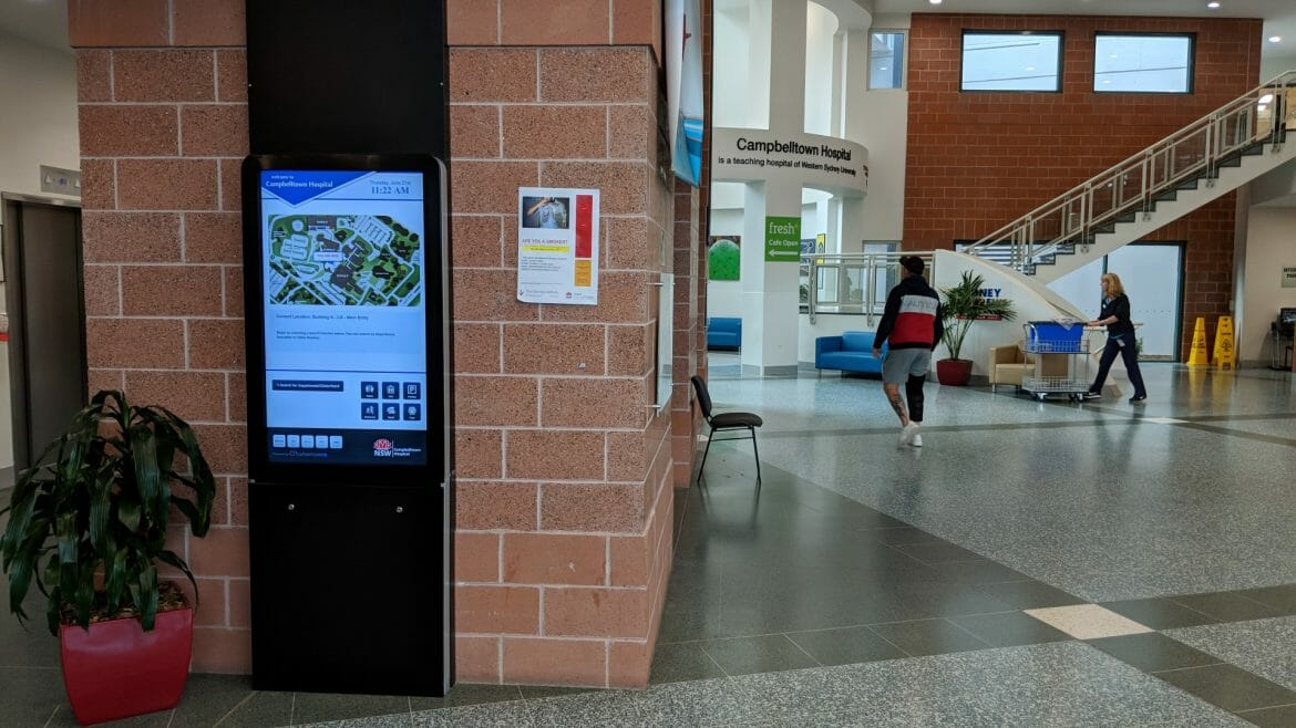 Advertise Me - Digital Wayfinding Campbelltown Hospital Main Entrance