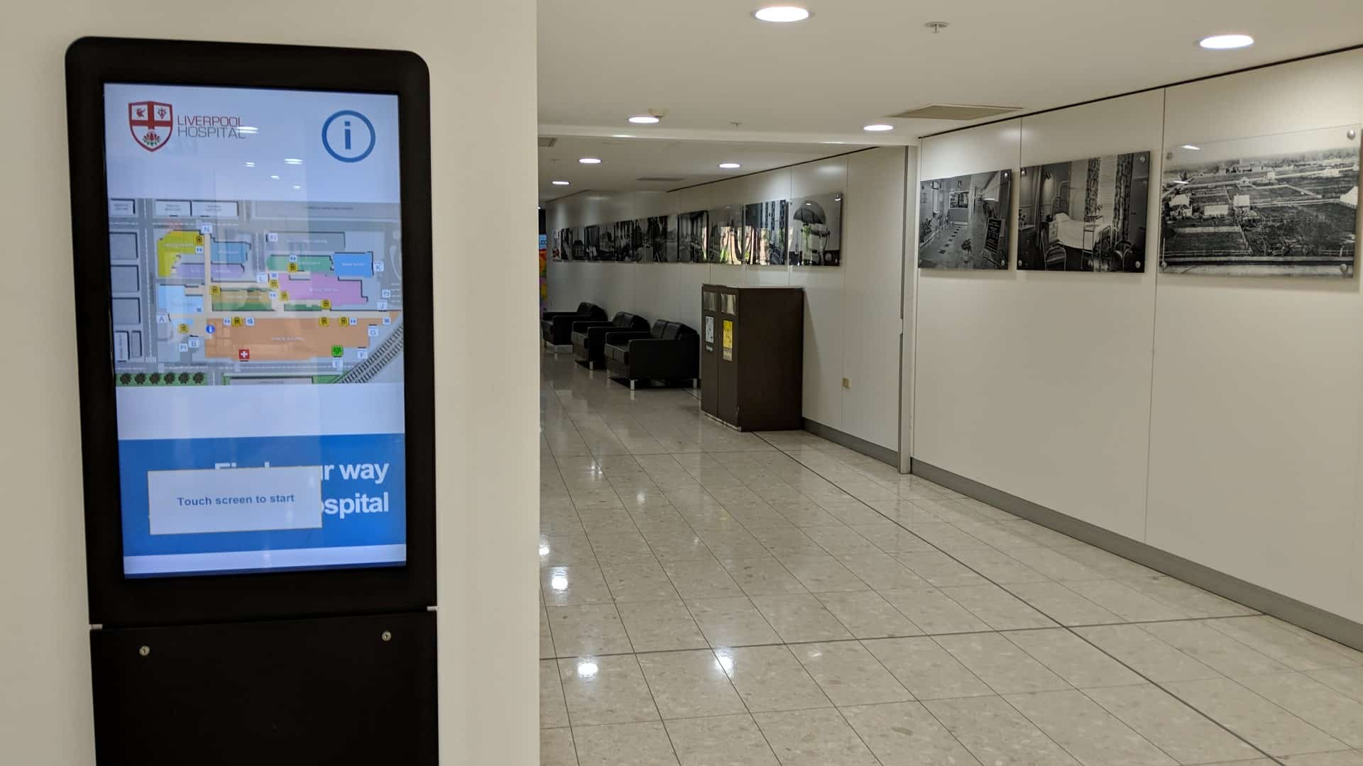 Digital Wayfinding – Liverpool Hospital