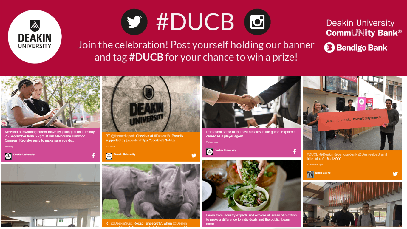 Advertise Me - Social Wall Deakin University DUBC Event