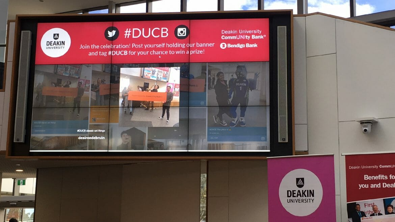 Advertise Me - Social Wall Deakin University Events Header