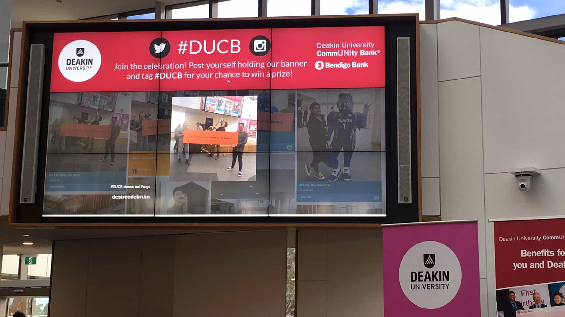 Advertise Me - Social Wall Deakin University Events Header