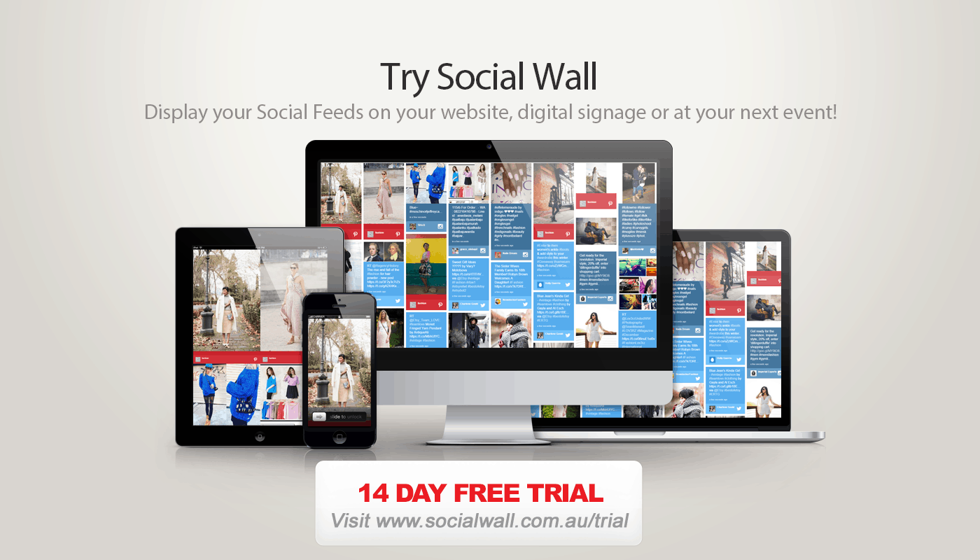 Advertise Me Social Wall Trial