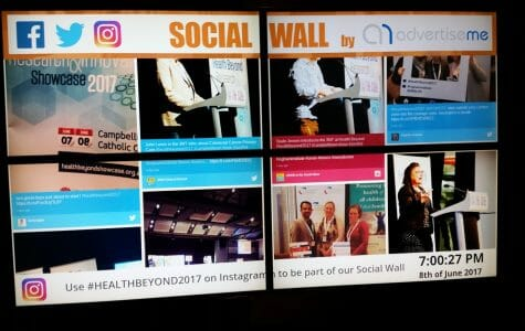 Advertise Me - Video Wall Social Wall Igham Institue Health and Beyond