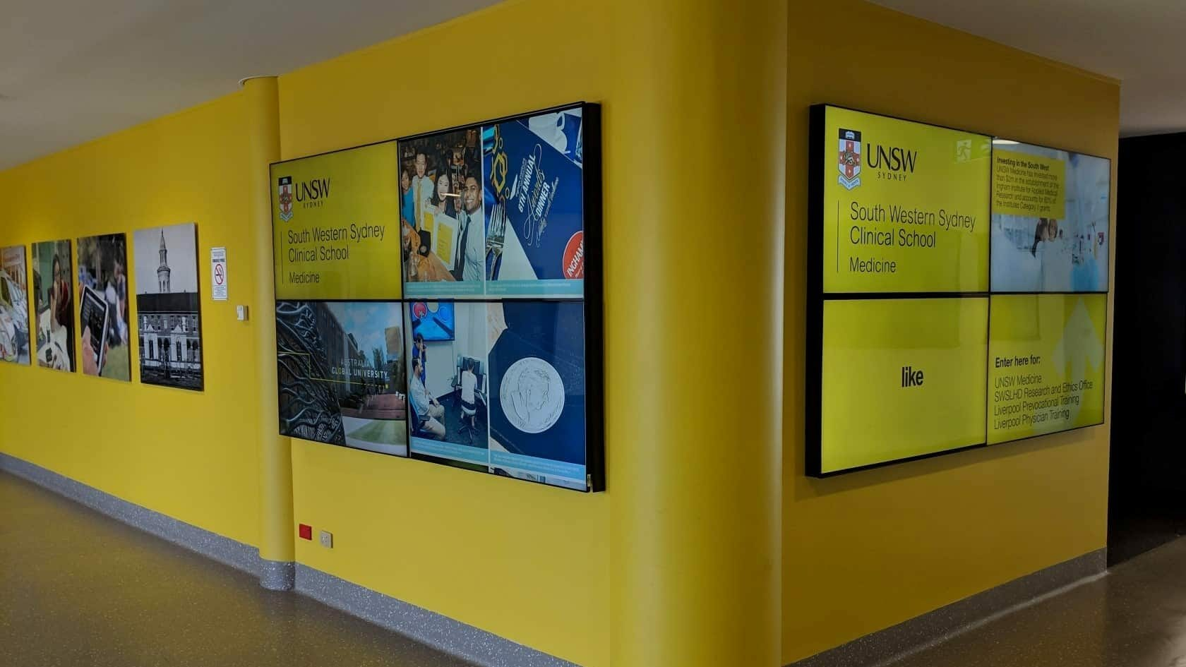 Advertise Me - Video Wall UNSW Liverpool Hospital
