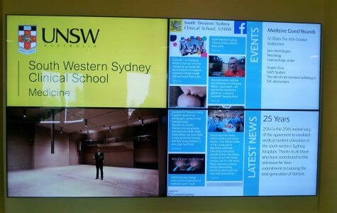 Advertise Me - Video Wall and Social Wall UNSW Liverpool Hospital