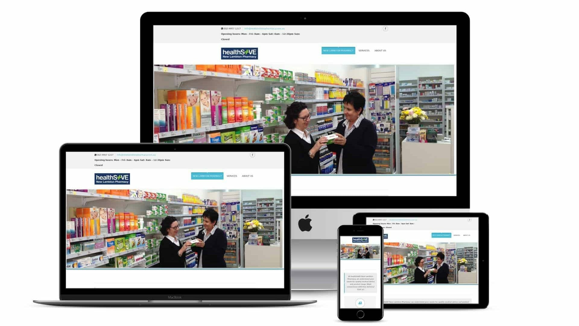 Website Development – New Lambton Pharmacy Website and Social Wall