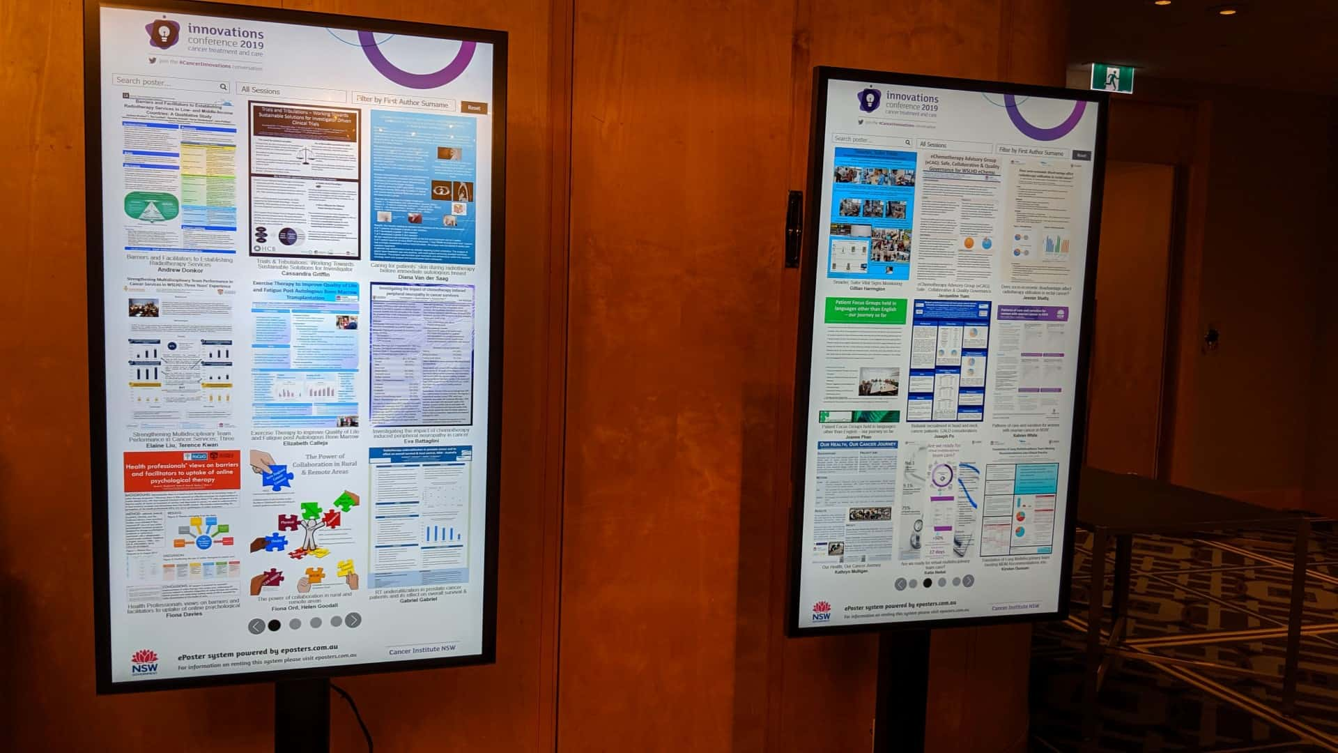 Advertise Me Interactive Digital Signage - ePosters Cancer Institute NSW Conference