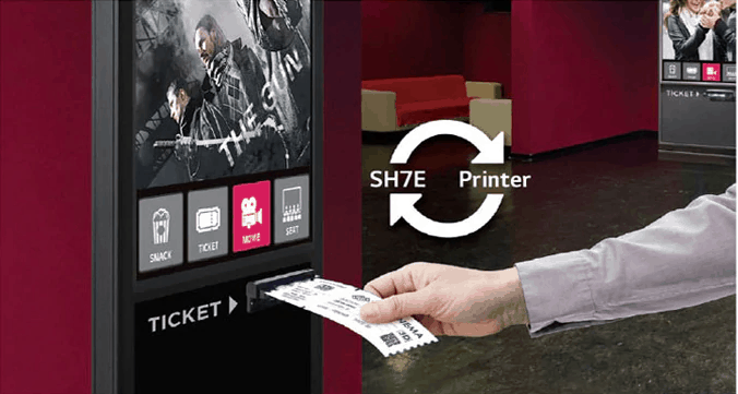 Advertise Me LG FULL HD COMMERCIAL MONITOR DISPLAY SH7E Thermal Printer