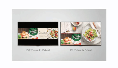 Advertise Me LG FULL HD COMMERCIAL MONITOR DISPLAY SM5KE multi screen mode