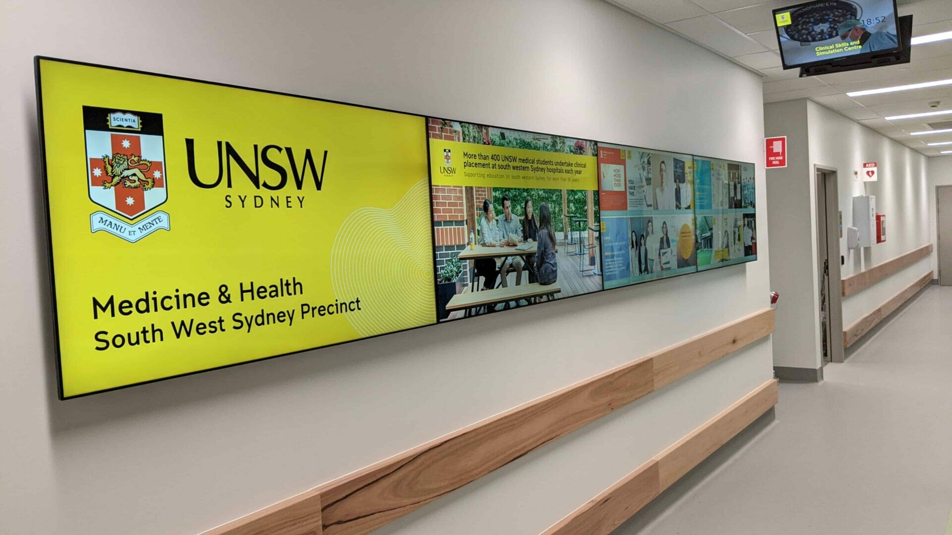 Advertise Me UNSW Medicine Health South West Sydney Precinct 4x1 Video Wall 1