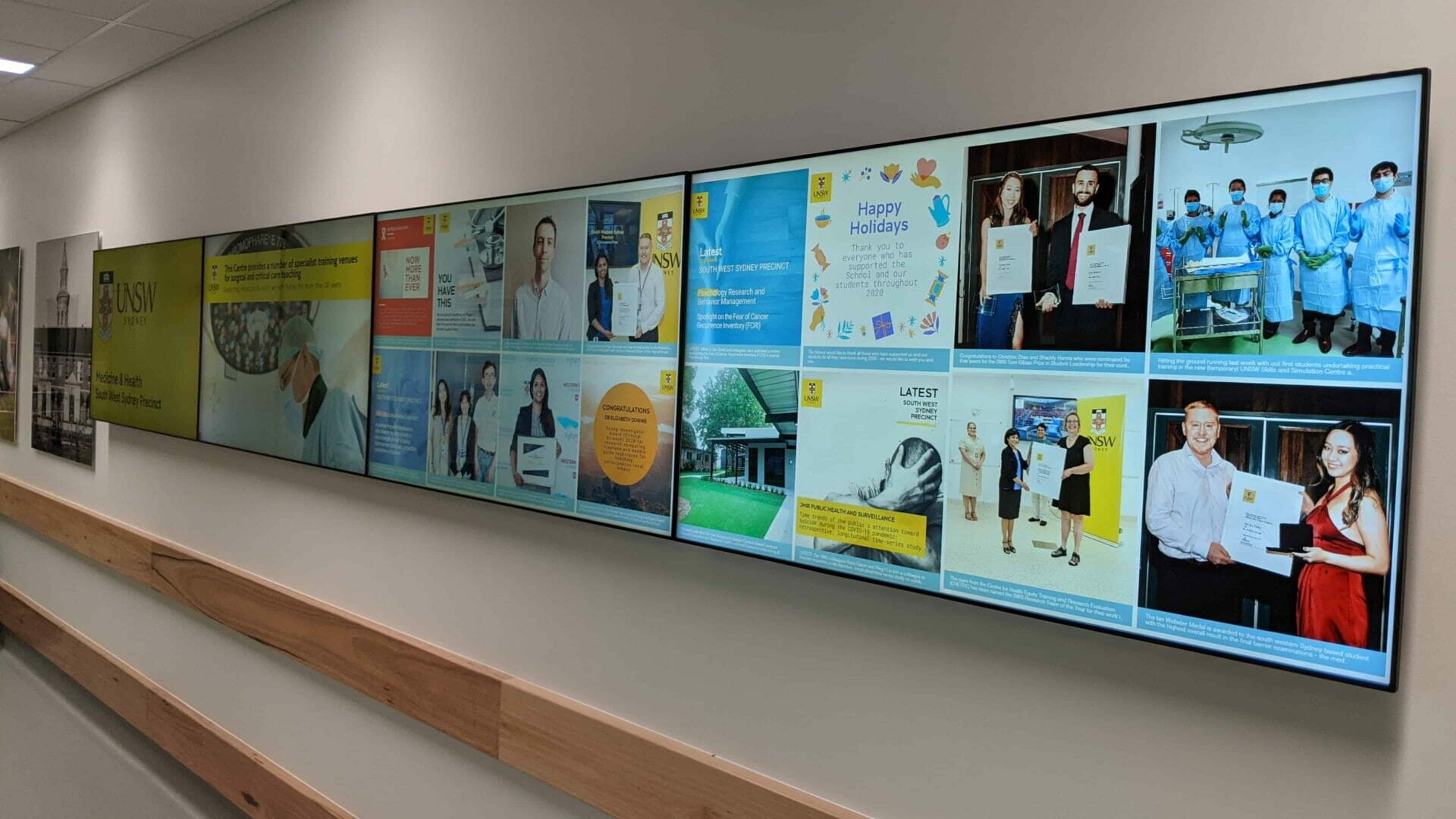 Video Wall & Social Wall – UNSW Medicine & Health South West Sydney Precinct 4×1 Video Wall